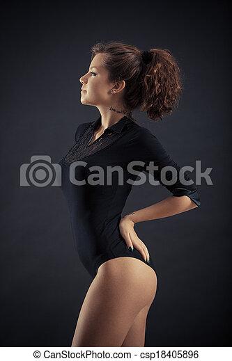 pretas, mulher bonita - csp18405896