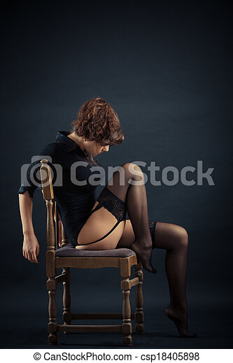 pretas, mulher bonita - csp18405898