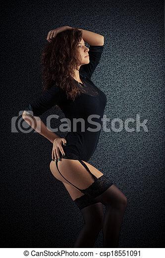 pretas, mulher bonita - csp18551091