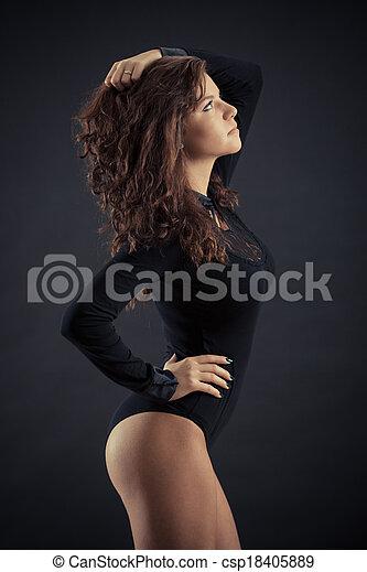 pretas, mulher bonita - csp18405889