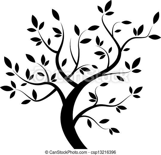 pretas, vetorial, árvore - csp13216396