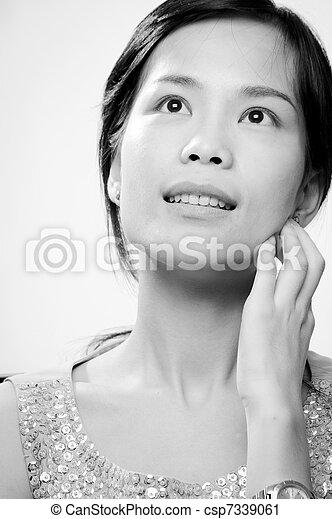 Asian deep black throat