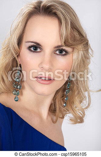 pretty blond woman - csp15965105
