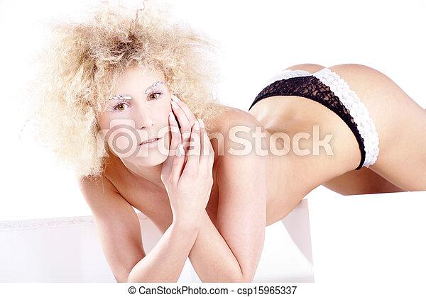 pretty blond woman - csp15965337