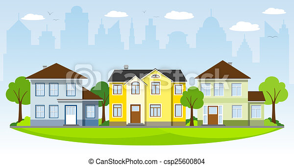 Pretty Country House Stock Illustration