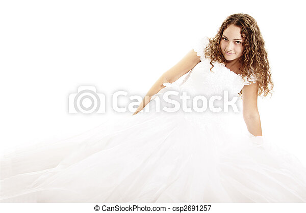 Pretty curly bride - csp2691257