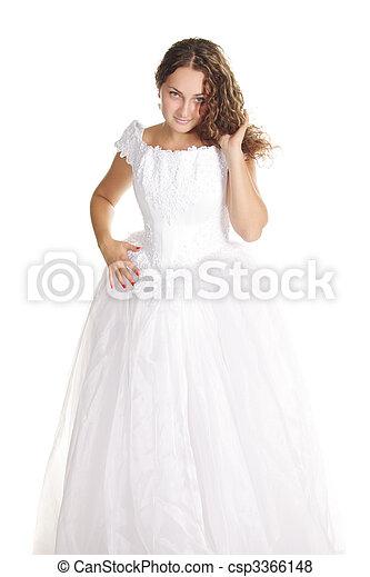 Pretty curly bride - csp3366148