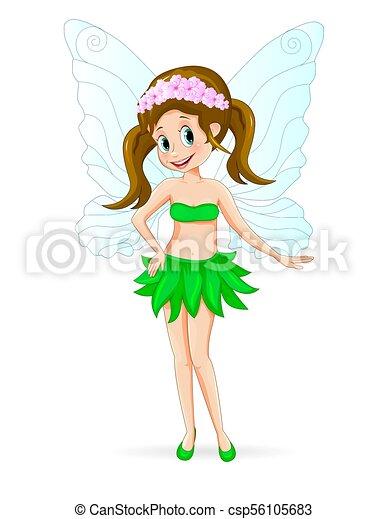 Pretty cute fairy - csp56105683