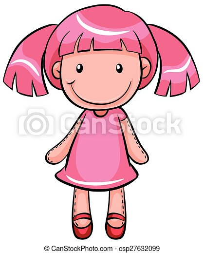 Close Up Pink Pretty Doll Of A Girl Eps Vectors Search