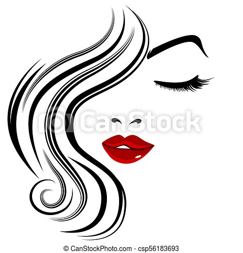 Pretty Face Girl Closed Eye Eyelashes - csp56183693