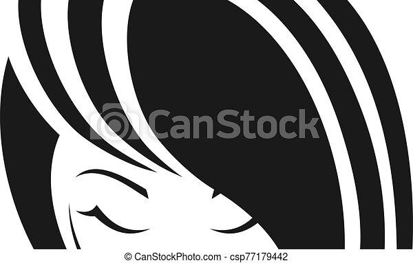 pretty girl face eyes - csp77179442