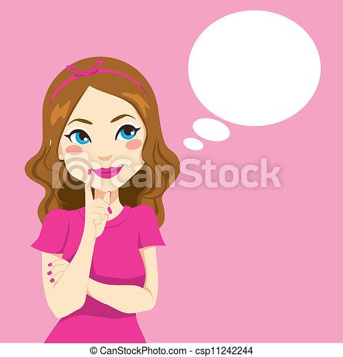 Pretty Girl Thinking - csp11242244