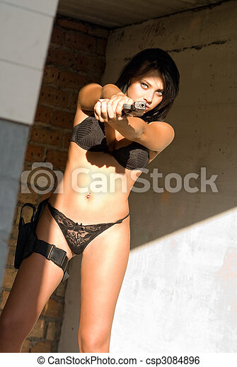 Very pity naked woman with gun opinion