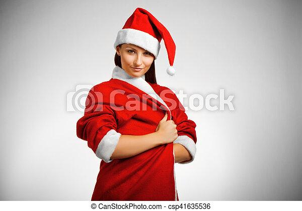 Pretty Santa's helper - csp41635536