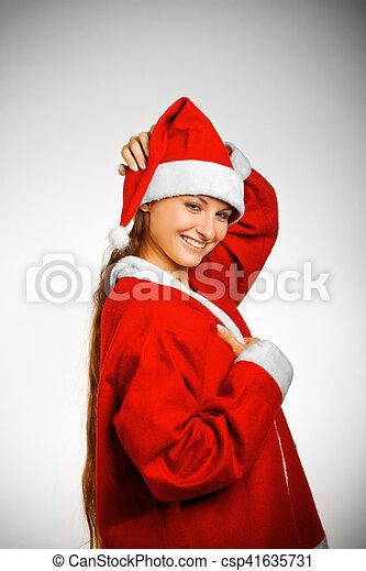 Pretty Santa's helper - csp41635731