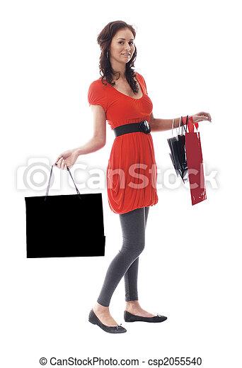 Pretty woman in shopping mode - csp2055540