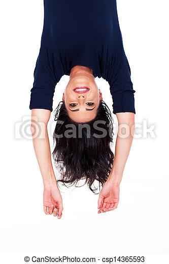 pretty woman upside down - csp14365593