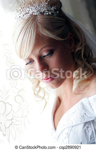 Pretty young adult bride - csp2890921