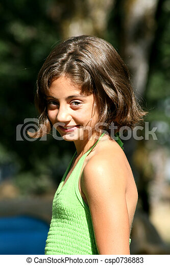 pretty young girl pretty young 12 year old girl with brunette hair