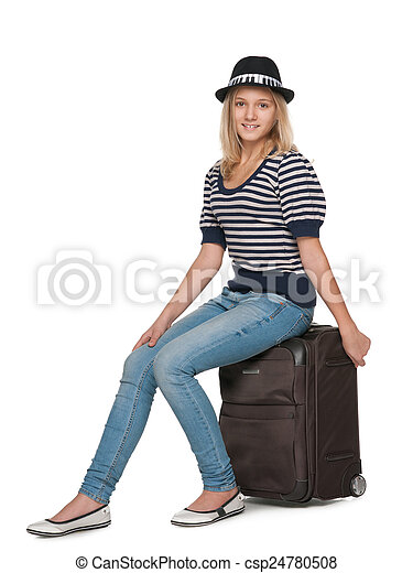 Pretty young traveler - csp24780508