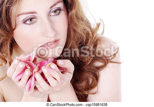 pretty young woman at spa - csp15981638