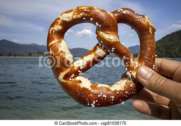 pretzel at Walchensee - csp81038170