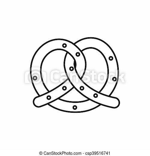 Pretzel icon, outline style - csp39516741
