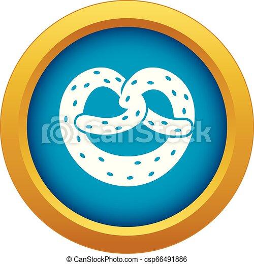 Pretzels icon blue vector isolated - csp66491886