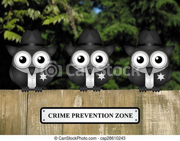 Zona de prevención del crimen USA - csp28610243