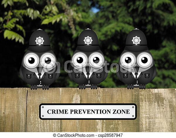 Zona de prevención del crimen UK - csp28587947