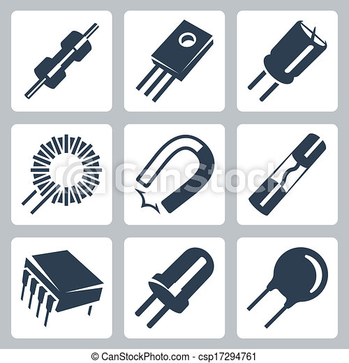 Preventer, transistor, komponenten, heiligenbilder, magnet, diode ...