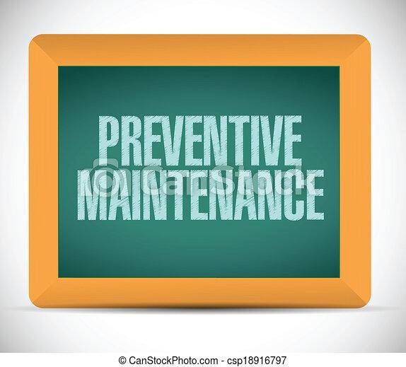 preventive maintenance message sign - csp18916797