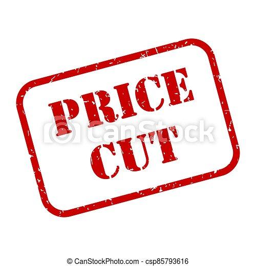 Image vectorielle de stock de Price Reduction Icon Concept Scissors Cutting  410084800