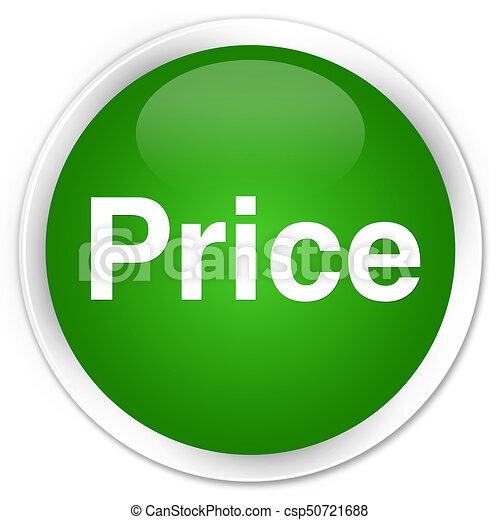 Price premium green round button - csp50721688