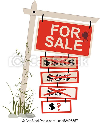 Price reduced sign - csp52496857