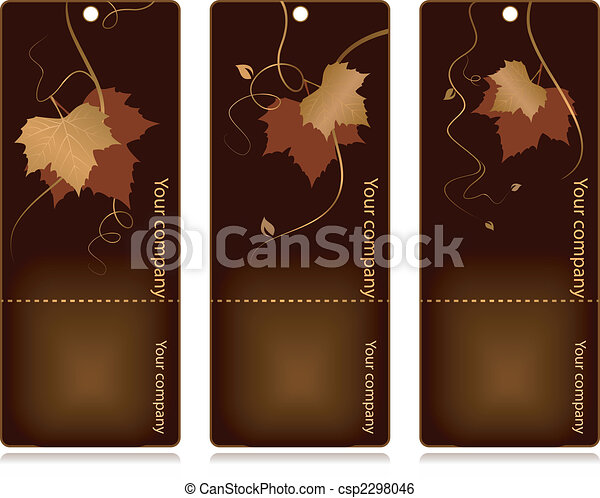 Price, sales tags on dark background - csp2298046
