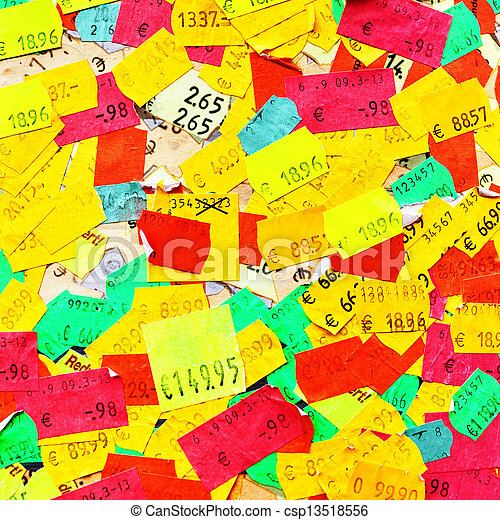 Price stickers - csp13518556