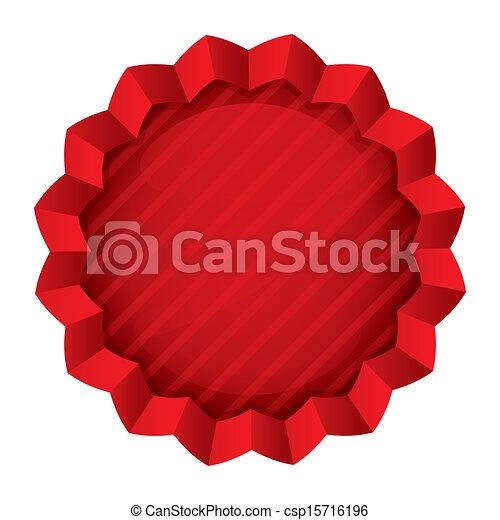 Price tag template. Red round star sticker - csp15716196