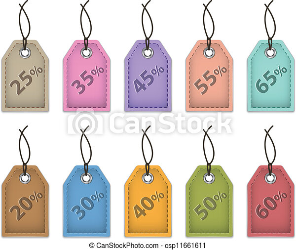 Price tags for sale - csp11661611