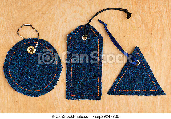 Price tags made of jeans - csp29247708