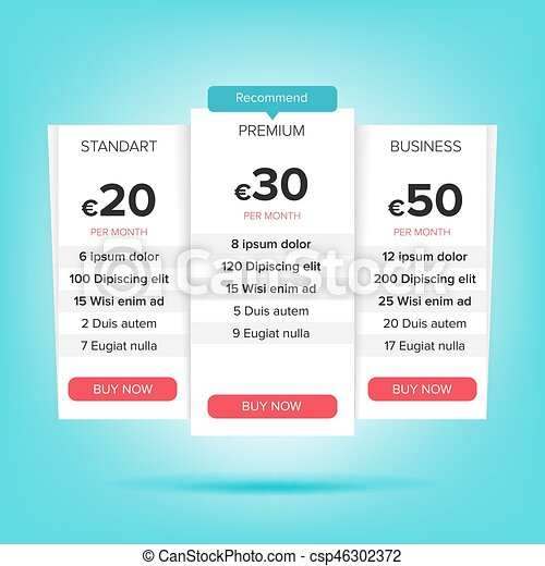 pricing business plans vector pricing plans template chart table pricing plan template recommend