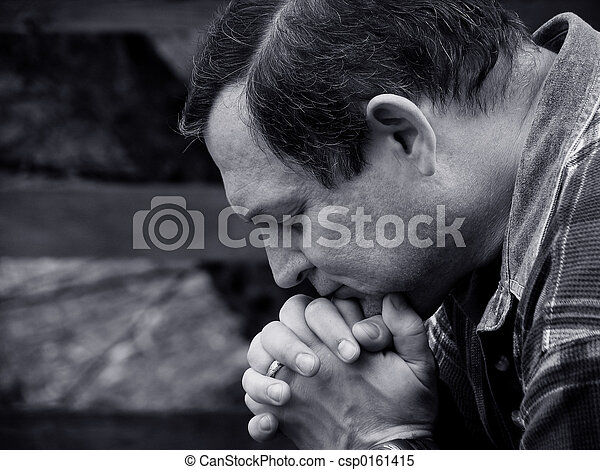 prier, homme - csp0161415