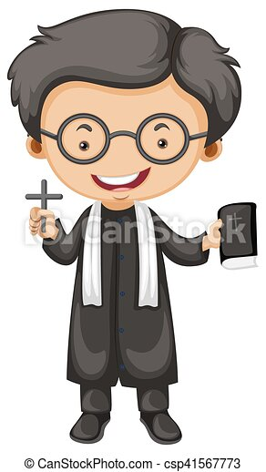 priest holding bible and cross illustration clipart priest ordination priest clipart images