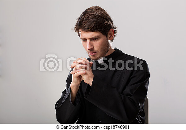 Priest is praying - csp18746901