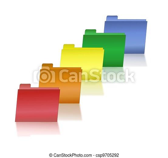 Primary Colored File Folders - csp9705292