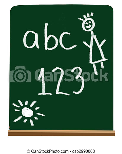 Primary school letters and numbers - csp2990068
