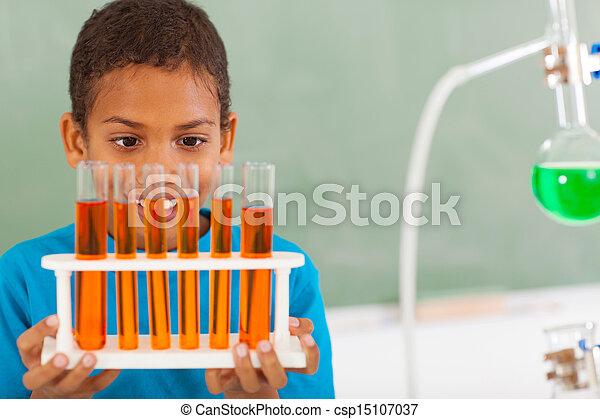 primary school student in science class - csp15107037