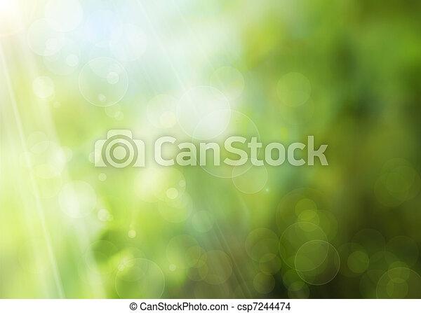 primavera, abstratos, fundo, natureza - csp7244474