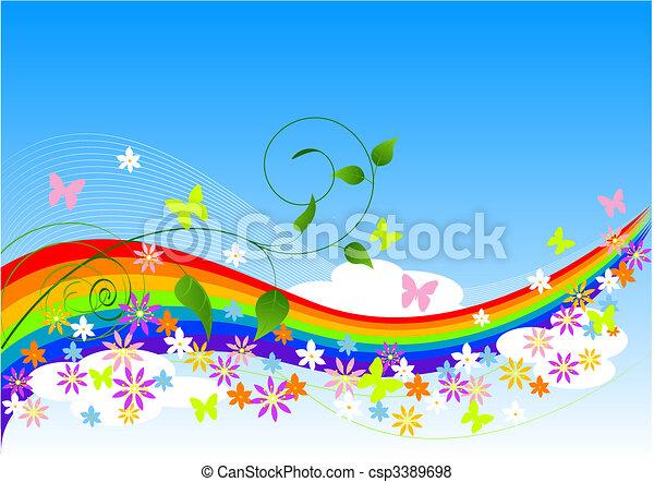 primavera, astratto, fondo - csp3389698