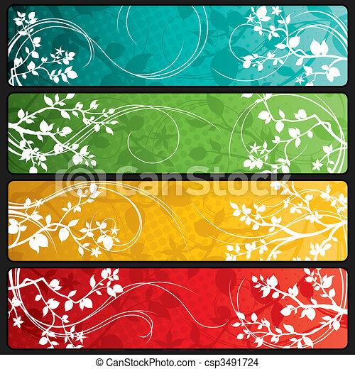primavera, bandeiras - csp3491724